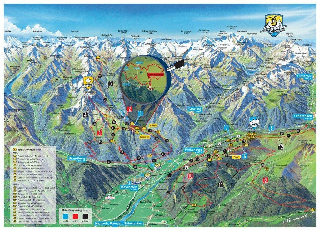 Wandelkaart Zillertal